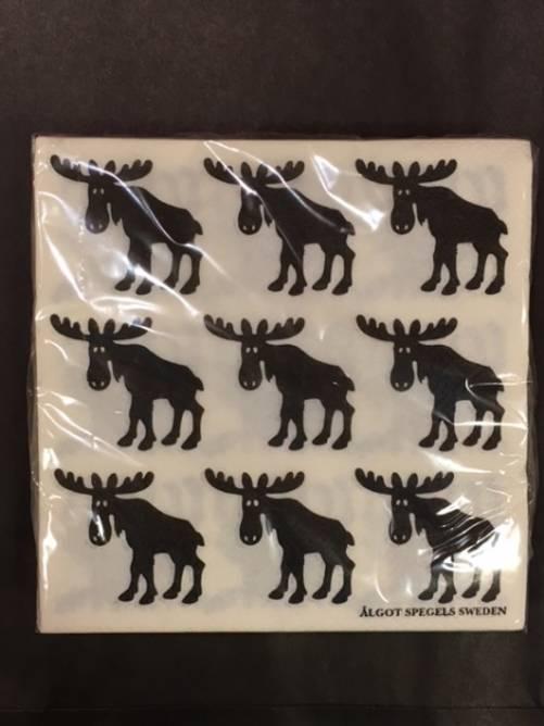 Bilde av Servietter med elg