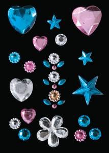 Bilde av GLAM ROCKS stickers Hjerter og stjerner, 1 ark