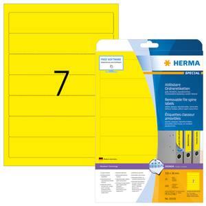 Bilde av MOVABLES avtagbare ryggetiketter, gul 20 ark