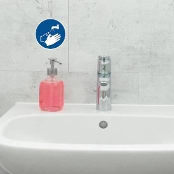 Bilde av Påbudsskilt Vask hendene