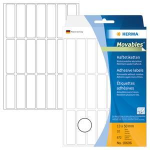 Bilde av MOVABLES avtagbare etiketter manuell 13x50 (672