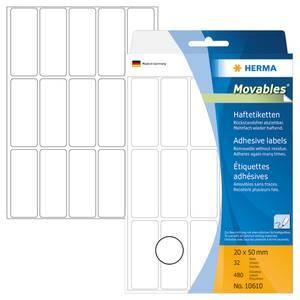 Bilde av MOVABLES avtagbare etiketter manuell 20x50 (480