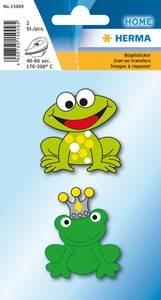 Bilde av Strykemerke morsomme frosker, stoff, 2 stk (10