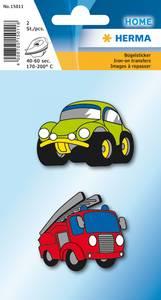 Bilde av Strykemerke biler, stoff, 2 stk (10 pakk)