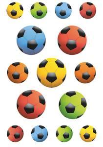 Bilde av DECOR Stickers Fotballkamp, 3 ark (10 pakk)