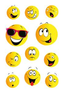 Bilde av DECOR Stickers Happy Face, 3 ark (10 pakk)