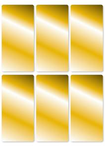 Bilde av VARIO Etiketter, gull 26 x 54 mm, 3 ark, 18 stk