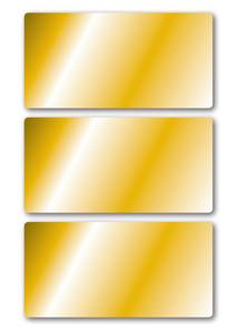 Bilde av VARIO Etiketter, gull 34 x 67 mm, 3 ark, 18 stk