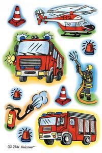 Bilde av DECOR Stickers Brannmenn, 3 ark (10 pakk)