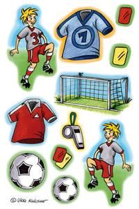 Bilde av DECOR Stickers Fotballspill, 3 ark (10 pakk)