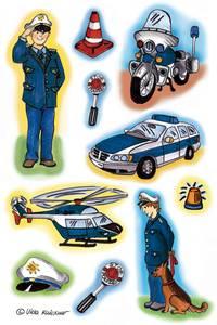 Bilde av DECOR Stickers Politi, 3 ark (10 pakk)