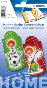 Bilde av Magnetiske bokmerker, Sport, 33x72 mm, 2 stk (5
