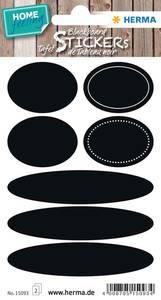 Bilde av HOME tavleetiketter Ovaler, 2 ark (5 pakk)