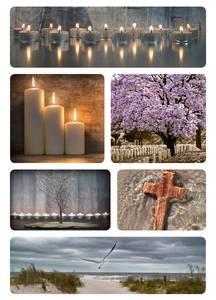 Bilde av Etiketter Tunge tider, Lys, 2 ark (10 pakk)