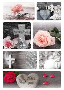 Bilde av Etiketter Tunge tider, Roser, 2 ark (10 pakk)