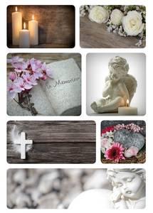 Bilde av Etiketter Tunge tider, In Memoriam , 2 ark (10