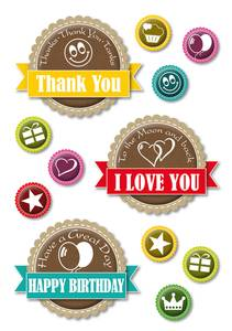 Bilde av DECOR Stickers Happy Day, 3 ark (10 pakk)