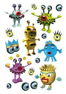 Bilde av DECOR Stickers Monstre, 3 ark (10 pakk)