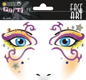 Bilde av FACE ART Sticker Mystery til ansiktet, 1 ark (5