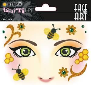 Bilde av FACE ART Sticker Honey Bee til ansiktet, 1 ark (5