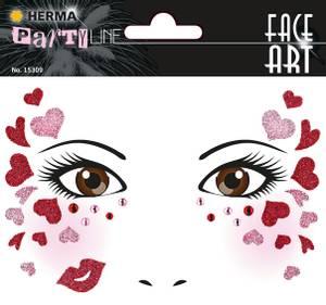 Bilde av FACE ART Sticker Love til ansiktet, 1 ark (5