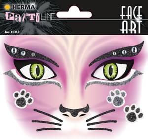 Bilde av FACE ART Sticker Pink Cat til ansiktet, 1 ark (5