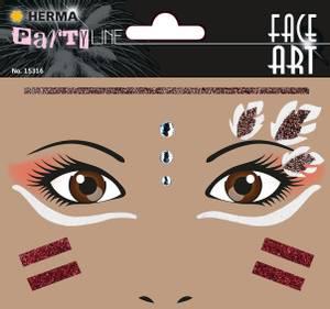 Bilde av FACE ART Sticker Americal native til ansiktet, 1