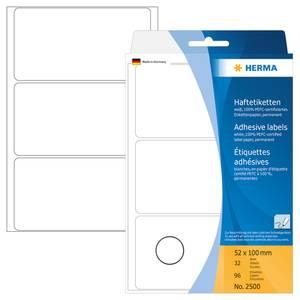 Bilde av HERMA standardetiketter, hvit 52x100 mm (96 stk)