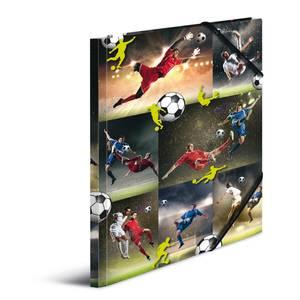 Bilde av Strikkmappe i robust kartong, A4, Fotballkamp (3