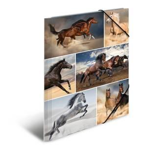 Bilde av Strikkmappe i robust kartong, A4, Hester (3 pakk)
