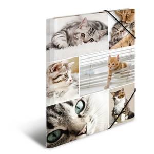 Bilde av Strikkmappe i robust kartong, A4, Katter (3 pakk)