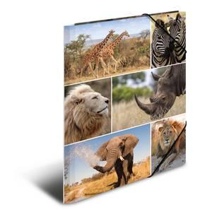 Bilde av Strikkmappe i robust kartong, A4, Dyr i Afrika (3