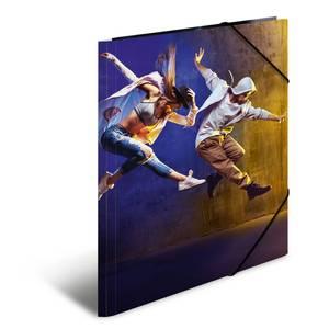 Bilde av Strikkmappe i robust kartong, A4, Dans (3 pakk)