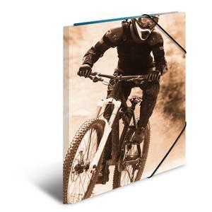 Bilde av Strikkmappe i robust kartong, A3, Montainbike (3