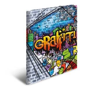 Bilde av HERMA strikkmappe i plastmateriale, A4, Graffiti
