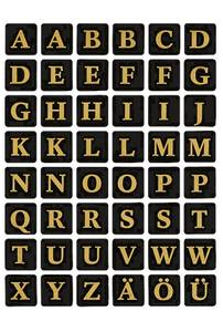 Bilde av VARIO bokstaver 13x13 mm A-Z, svart/gull 2 ark