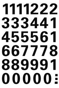 Bilde av VARIO talletiketter 15 mm, 0-9, svart, 1 ark (10