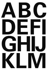 Bilde av VARIO bokstaver 25 mm, A-Z, svart 2 ark (10 pakk)