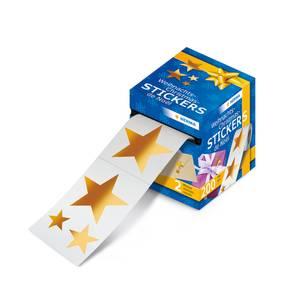 Bilde av Juleetiketter, Stjerner gullfolie, 2 motiver (200