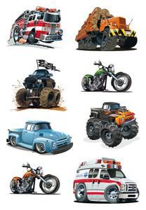 Bilde av DECOR Stickers American cars, 3 ark (10 pakk)
