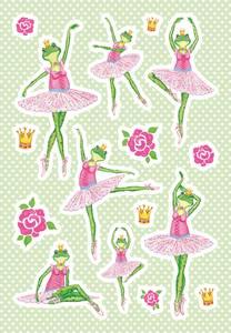 Bilde av DECOR Stickers Froskeballerina, 3 ark (10 pakk)