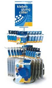 Bilde av Diskdisplay for HERMA limprodukter, 45 pakninger