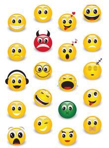 Bilde av MAGIC Stickers Klassiske emojier (stone), 1 ark