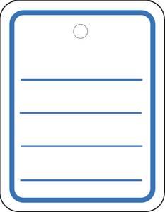 Bilde av Hengeetiketter i hvit papp, linjer og malje 35x45
