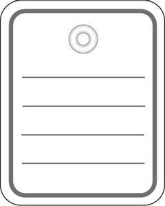 Bilde av Hengeetiketter i hvit papp, linjer og malje 40x50