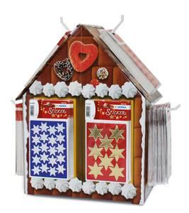 Bilde av Display Pepperkakehus, DECOR Stickers Stjerner,