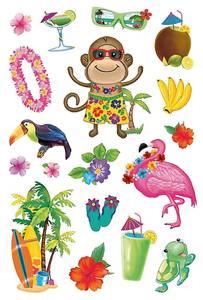 Bilde av DECOR Stickers Hawaii (prismatic), 1 ark (10