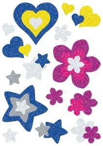 Bilde av MAGIC Stickers Blomster og hjerter, glitter, 1