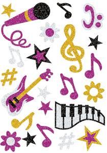 Bilde av MAGIC Stickers Musikk, glitter, 1 ark (10 pakk)