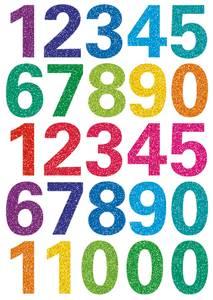 Bilde av MAGIC Stickers Tall med glitter, 1 ark (10 pakk)
